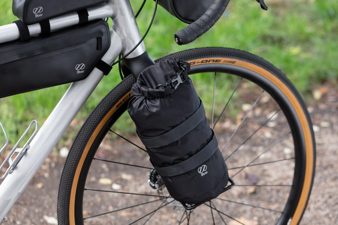 8bar dry bag on the fork