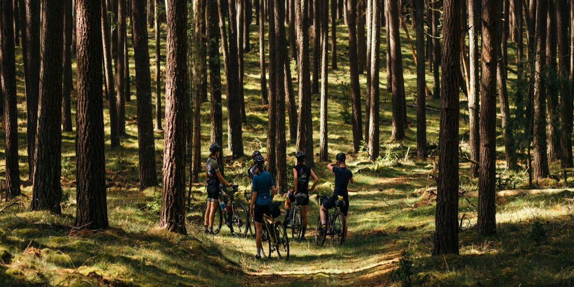 8bar cyclists in the woods