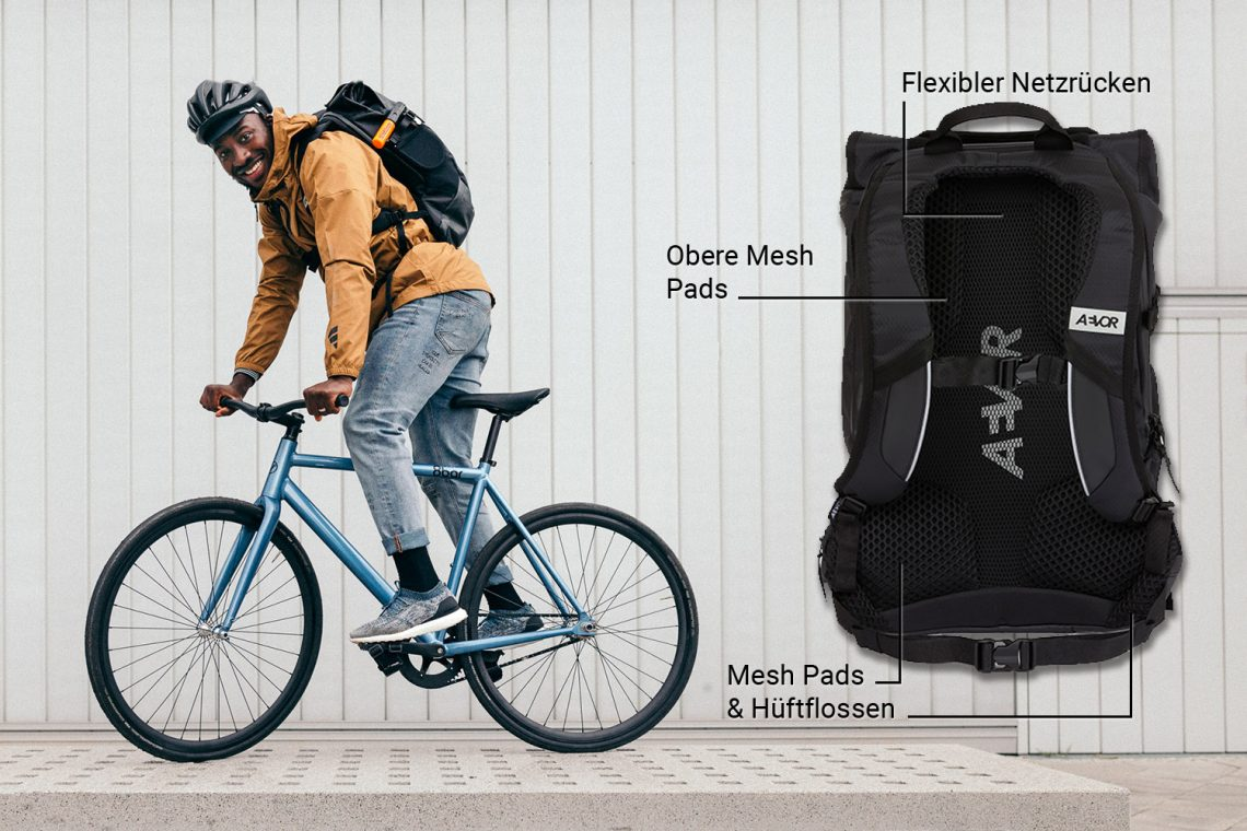 Aevor bike pack back panel