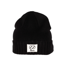 8bar casual wool beanie - black