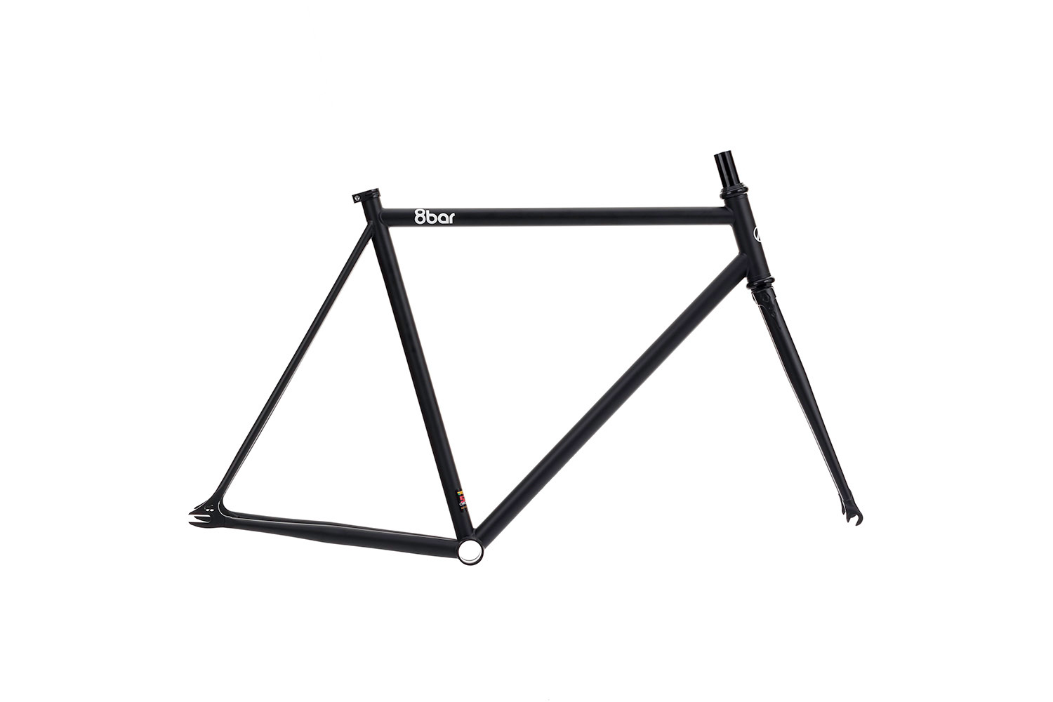 8bar bikes neukln black fixie fixed gear berlin 0002 - FHAIN STEEL v1 Rahmenset