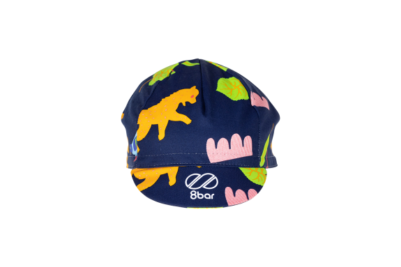 Blue cycling cap with BLN Edition design