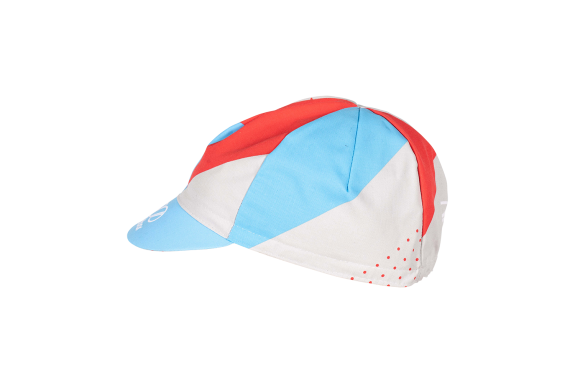 8bar club cycling cap - grey, blue, red