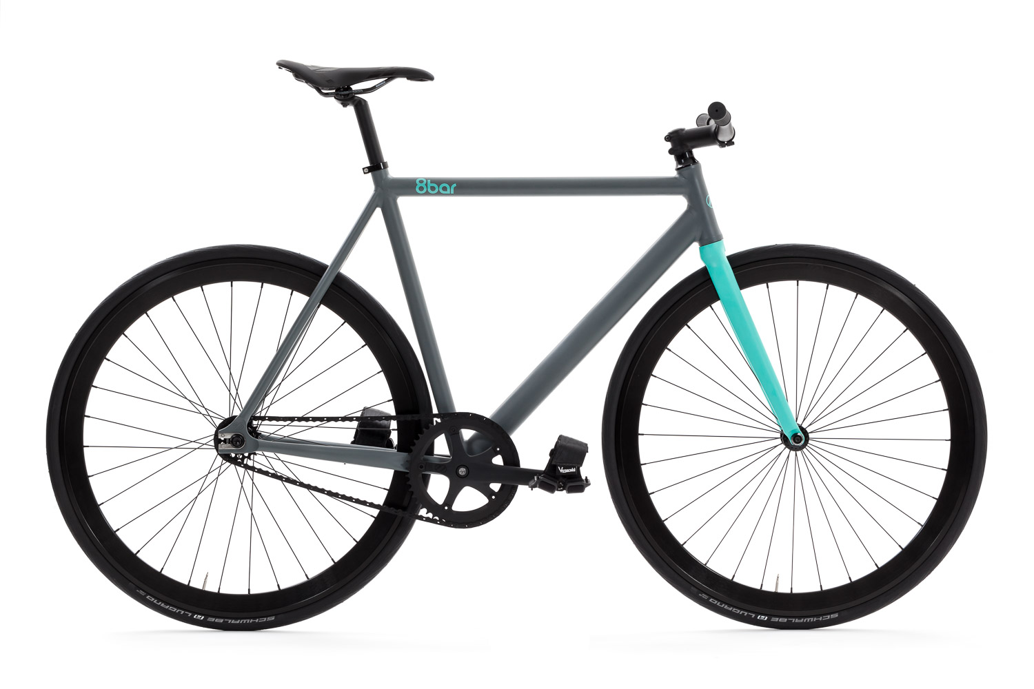 8bar fhain mintgrey bike fixie fixed gear 1 - 8bar FHAIN - sky asphalt - Design Your Frame