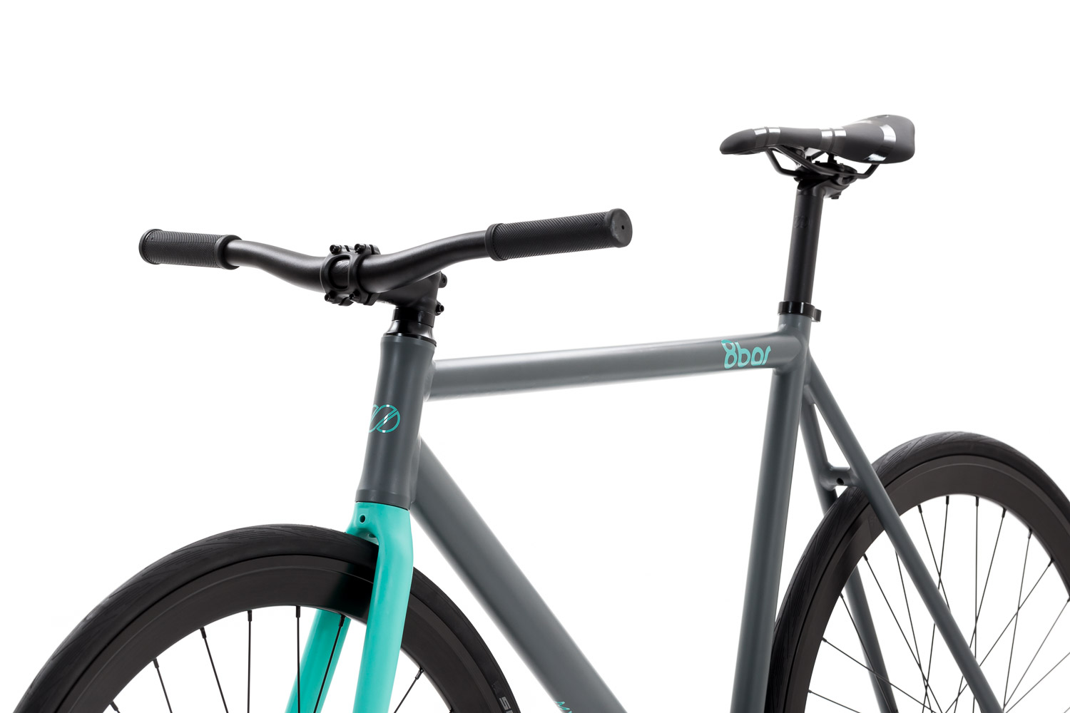 8bar fhain mintgrey bike fixie fixed gear 2 - 8bar FHAIN - sky asphalt - Design Your Frame