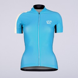 8bar fly blue wms jersey short front rapha