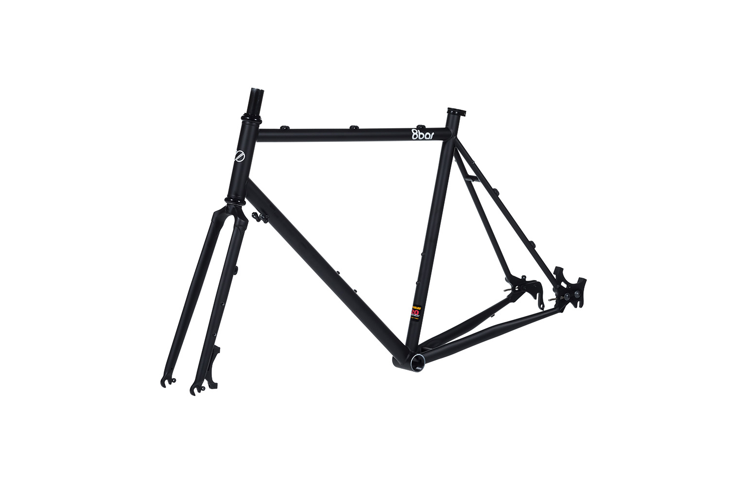 8bar frames set 45grad mitte steel all road gravel black