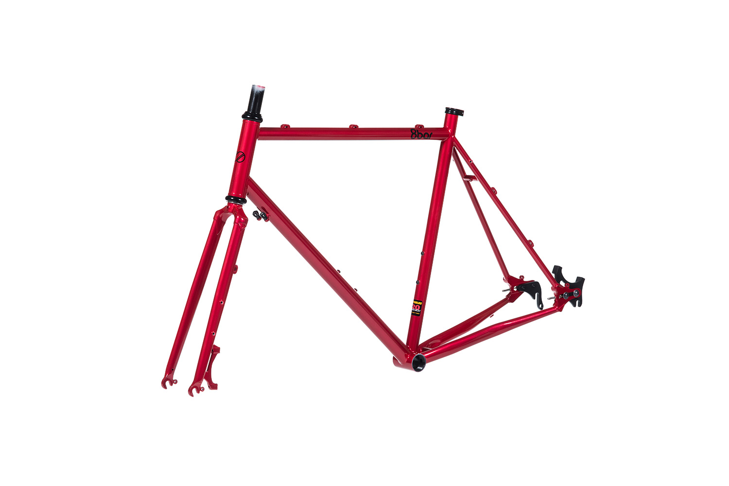 8bar frames set 45grad mitte steel all road gravel red