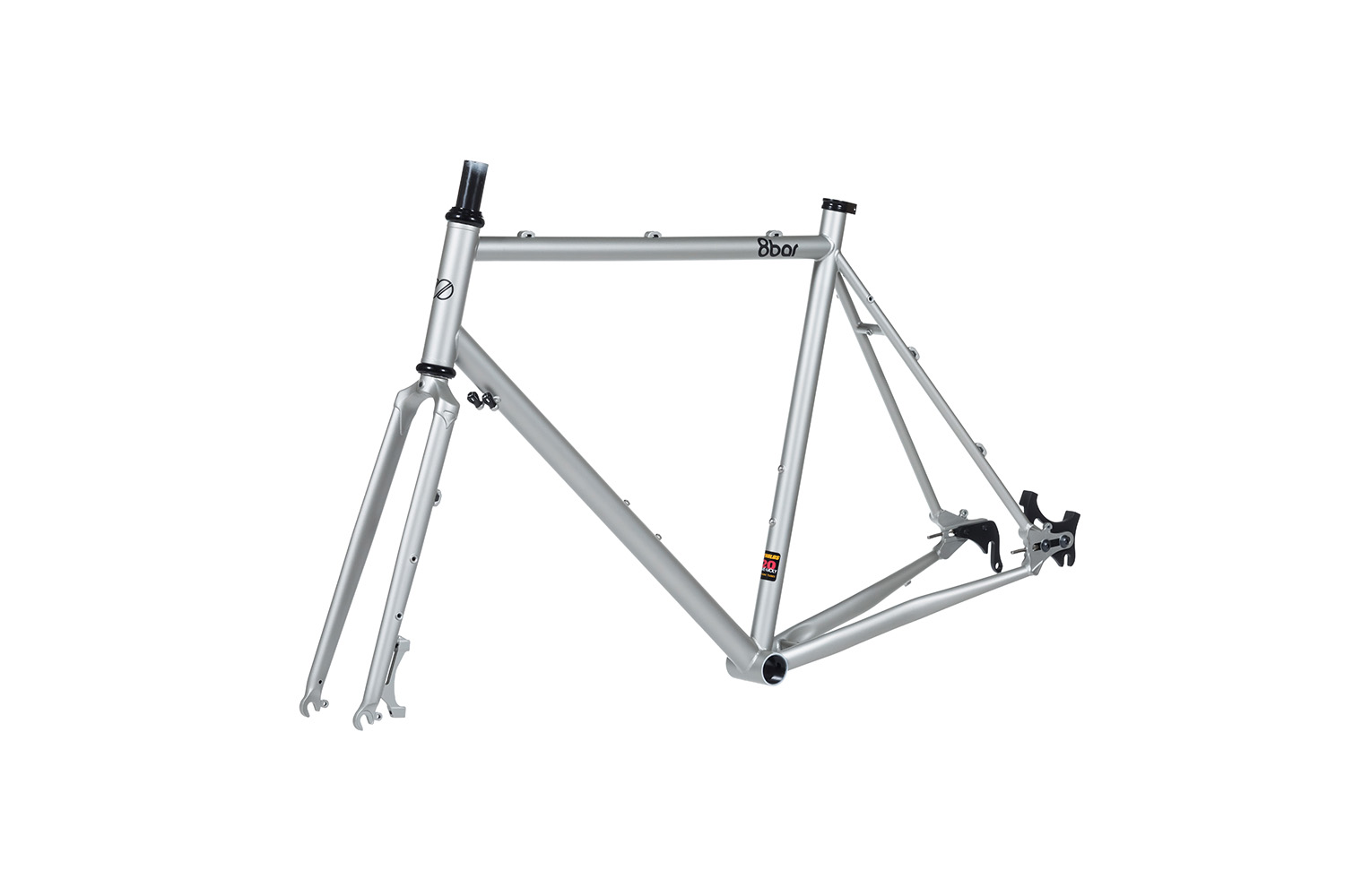 8bar frames set 45grad mitte steel all road gravel silver