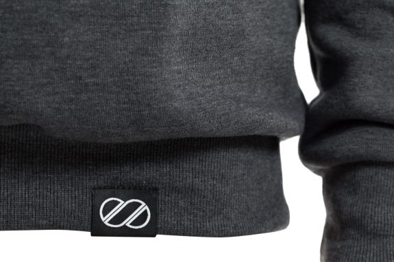 8bar hoddie detail darkgrey 575x383 - Hoodie - 8bar logo