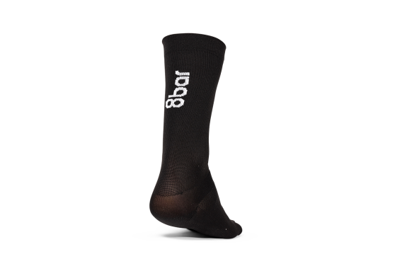 8bar cycling socks - Black - 8bar logo