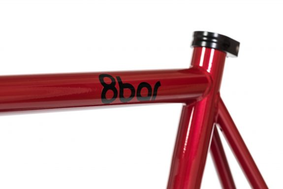 8bar studio detail fhain steel red bike fixed gear fixie 1 575x383 - FHAIN STEEL v1 Rahmenset