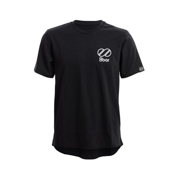 8bar black t-shirt with reflective logo