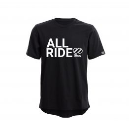 8bar black t-shirt with reflective all ride logo