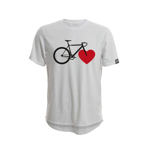 "grey t-shirt 8bar ""a heart for cyclists"""