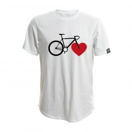 8bar tshirt white bike love 262x262 - A heart for cyclists - T-shirt