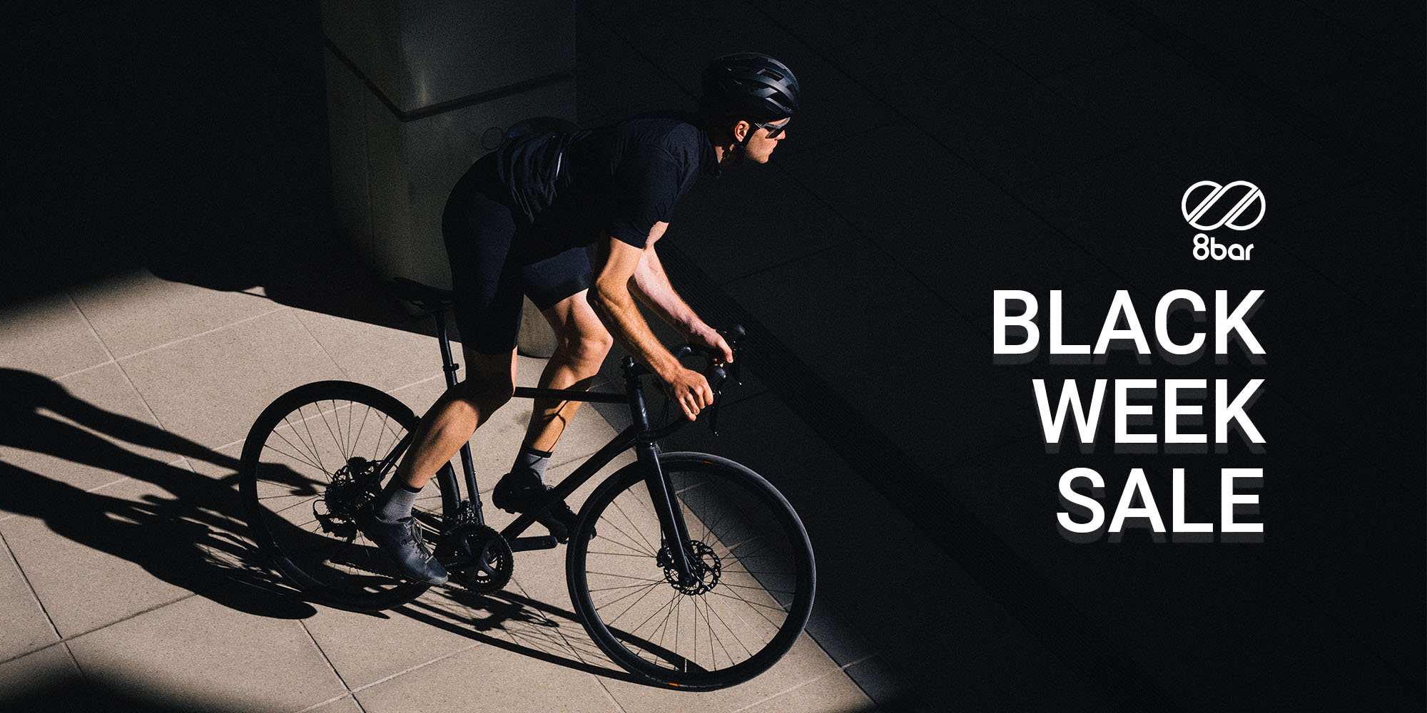 8bar Black Week Sale Image with cyclist