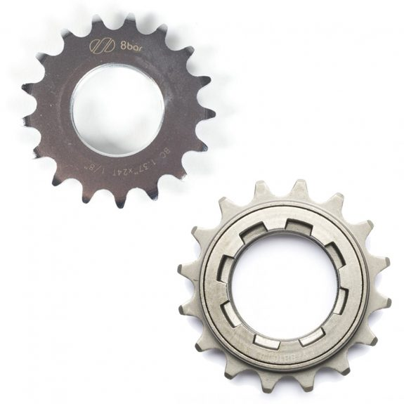 8bar konfig super freewheel sprocket combo silver 1 575x575 - SUPER Fixed Gear sprocket + Freewheel