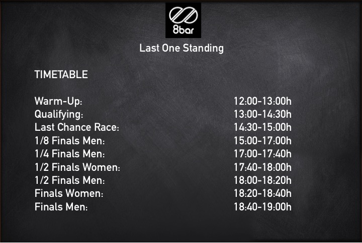 lastonestanding timetable2 - 8bar - Last One Standing - Berlin