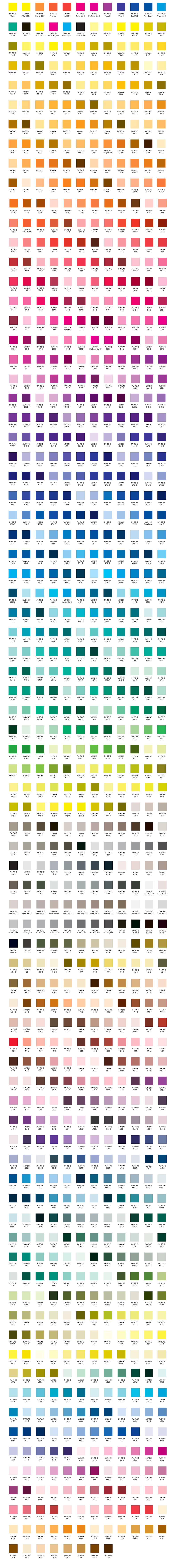 pantone farbpalette small - 8bar FHAIN v2 - Design Your Frame - Limited Edition