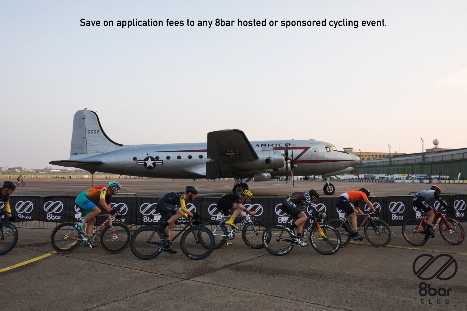 Save on application fees to any 8bar hosted or sponsored cycling event 002