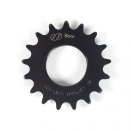sprocket 8bar steel 17t black 262x262 - SUPER Fixie Ritzel