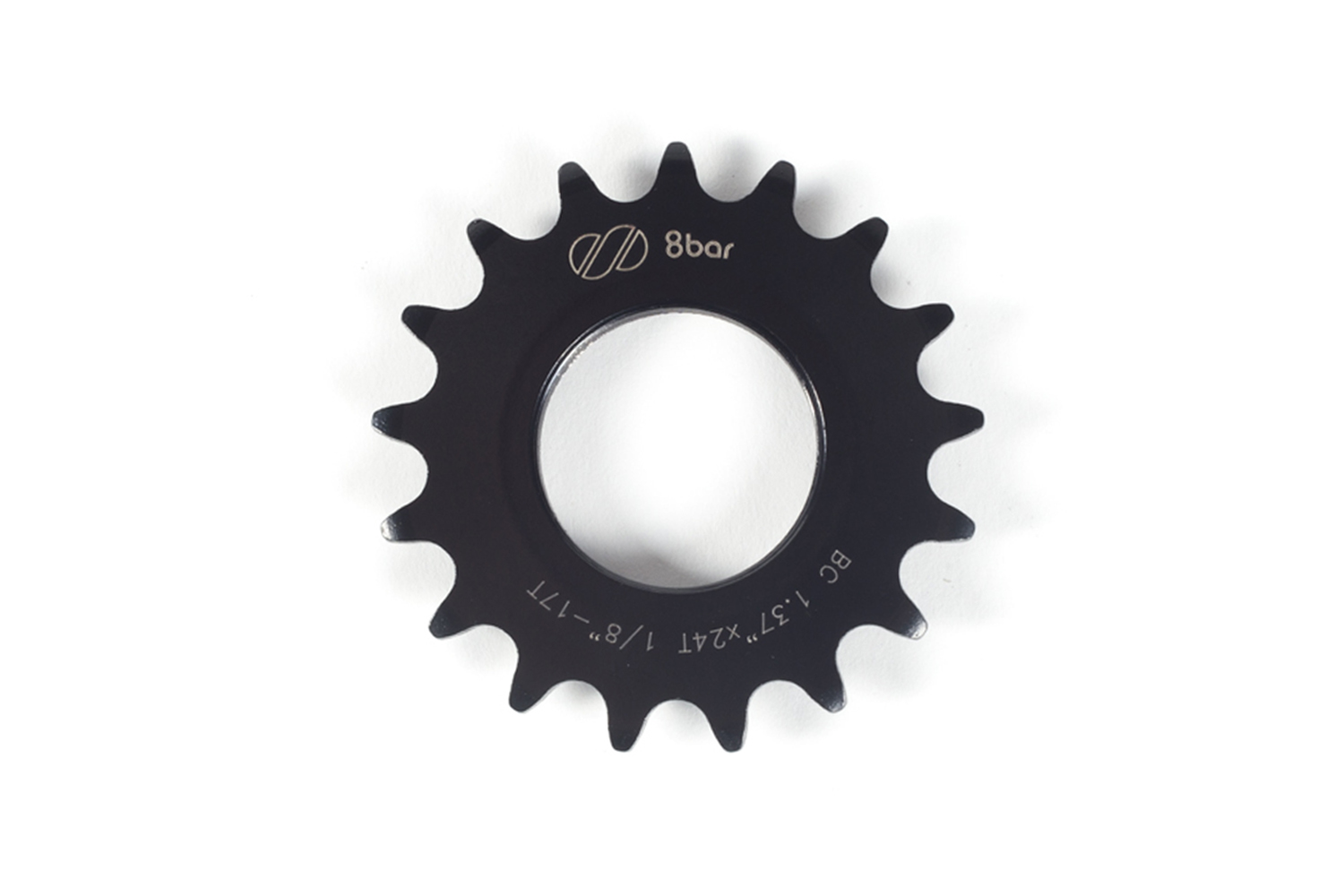 sprocket-8bar-steel-17t-black