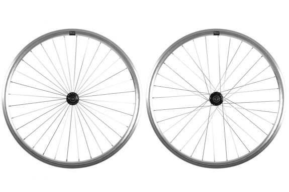 thumbnail 8bar super wheelset silver black hubs fixie fixedgear 575x383 - SUPER Laufräder